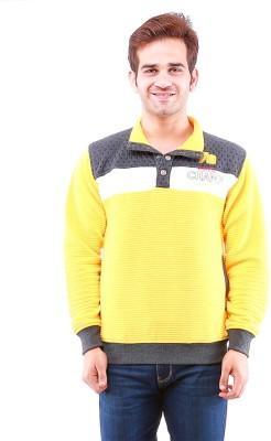 Oceanic Full Sleeve Self Design Men's Sweatshirt