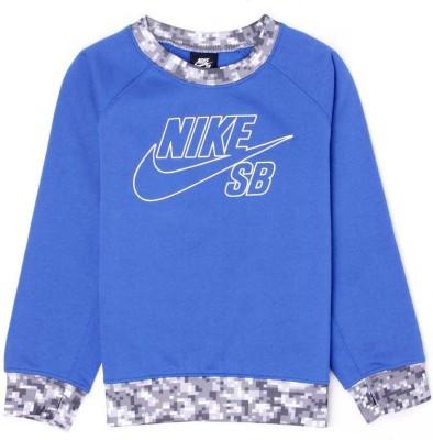 Nike SB Full Sleeve Solid Boy's Sweatshirt