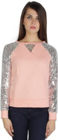 I Am For You Full Sleeve Embellished Women's Sweatshirt