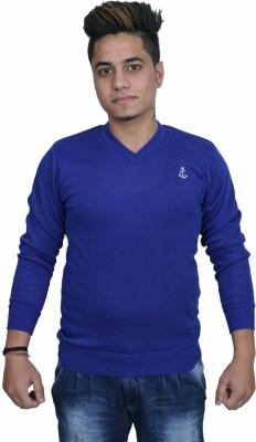 Black Chip Full Sleeve Solid Men's Sweatshirt