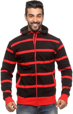 Sports 52 Wear Full Sleeve Solid, Striped Men,s Reversible Sweatshirt