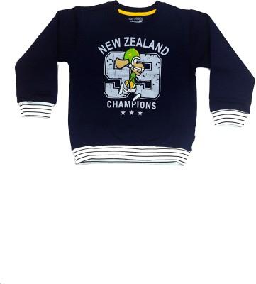 Groverz Full Sleeve Embroidered Boy's Sweatshirt