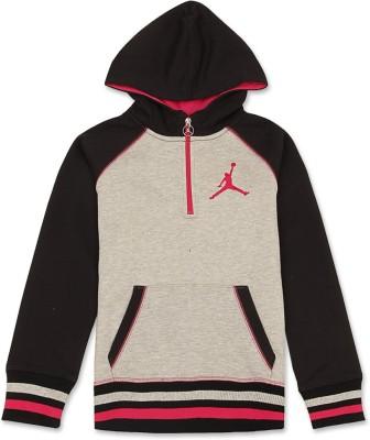 Jordan Kids Full Sleeve Solid Girl's Sweatshirt