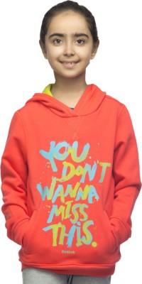 Reebok Full Sleeve Printed Girl's Sweatshirt