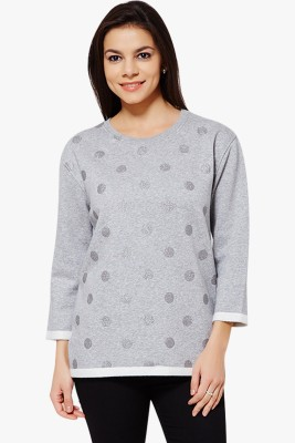PNY 3/4 Sleeve Polka Print Women's Sweatshirt