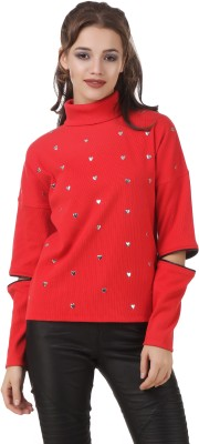 Texco Full Sleeve Embellished Women's Sweatshirt at flipkart
