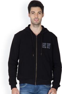 Hypernation Full Sleeve Solid, Printed Men,s Sweatshirt