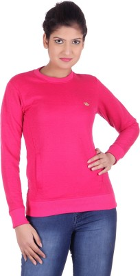 Rafters Full Sleeve Self Design Women's Sweatshirt