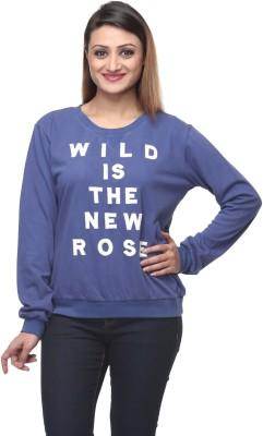 Wild Rose Full Sleeve Embroidered Women's Sweatshirt