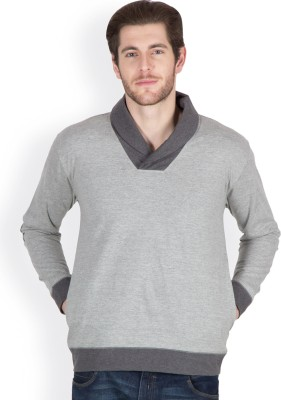 Hypernation Full Sleeve Solid Men,s Sweatshirt