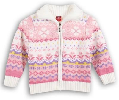 Lilliput Full Sleeve Self Design Girl's Sweatshirt