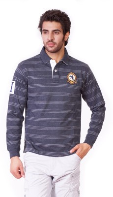 D-Green Full Sleeve Striped Men's Sweatshirt