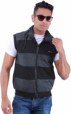 Oceanic Sleeveless Self Design Men's Sweatshirt