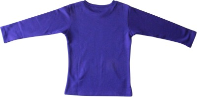 Anthill Casual Full Sleeve Solid Girl's Purple Top