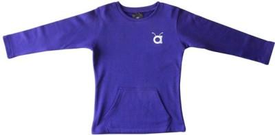 Anthill Full Sleeve Solid Girl's Sweatshirt