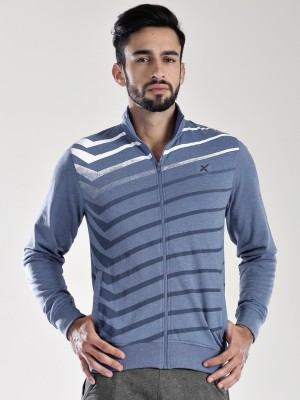 HRX by Hrithik Roshan Full Sleeve Striped Men's Sweatshirt