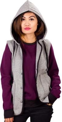 URBAN PITARA Sleeveless Solid Women's Sweatshirt