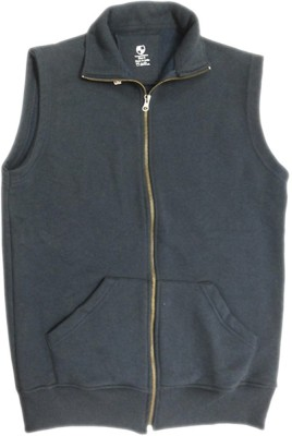Campusmall Sleeveless Solid Men's Sweatshirt