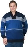 PlusS Full Sleeve Striped Men's Sweatshi...