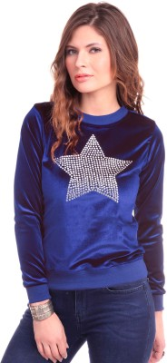 Sassafras Full Sleeve Embellished Women's Sweatshirt