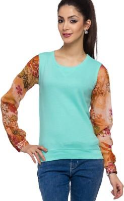 Alibi By Inmark Sleeveless Solid Women's Sweatshirt