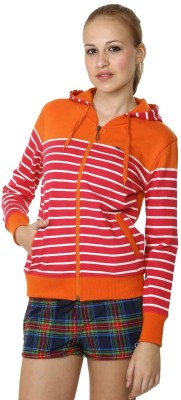 Miss Grace Full Sleeve Striped Womens Sweatshirt