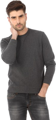 Basics Full Sleeve Solid Men's Sweatshirt