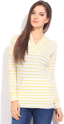 Flying Machine Full Sleeve Striped Women's Sweatshirt at flipkart