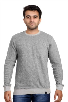 Parv Collections Full Sleeve Solid Men's Sweatshirt
