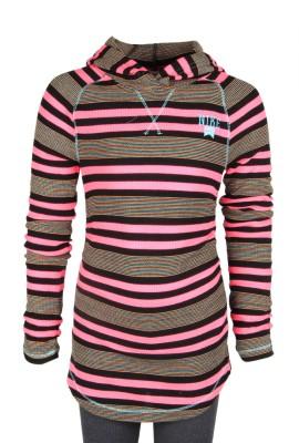 Nike Kids Full Sleeve Striped Girl's Sweatshirt