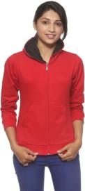 Threadz Full Sleeve Solid Women's Sweatshirt