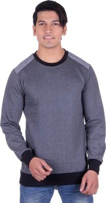Deutz Full Sleeve Solid Men's Sweatshirt