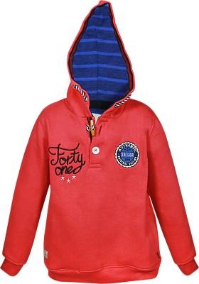 Blue Giraffe Full Sleeve Self Design Boy's Sweatshirt