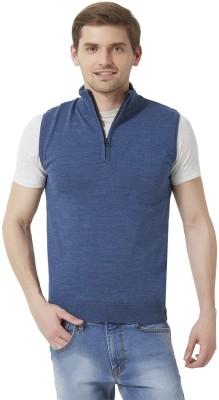 Peter England Sleeveless Self Design Men's Sweatshirt