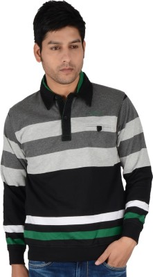 Integriti Full Sleeve Striped Men's Sweatshirt