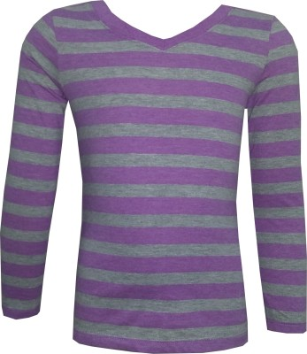 Tot N Teen Full Sleeve Striped Girl's Sweatshirt