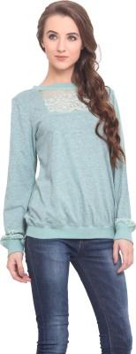 Instacrush Full Sleeve Solid Women's Sweatshirt