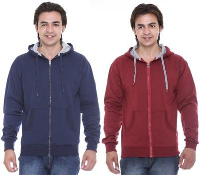Cee-For Full Sleeve Solid Men's Sweatshirt