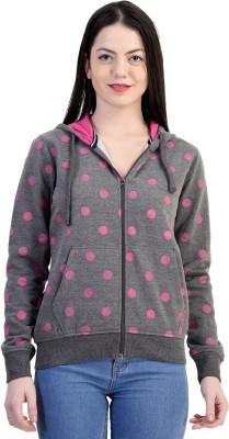 Belly Bottom Full Sleeve Polka Print Women's Sweatshirt