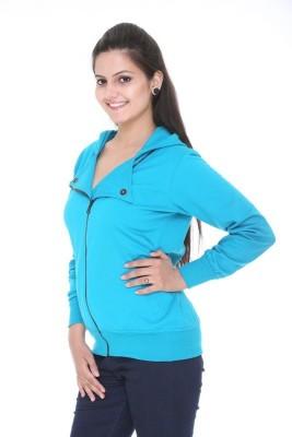 Meei Full Sleeve Self Design Women's Sweatshirt
