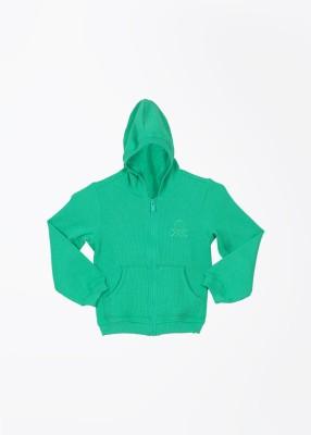 United Colors of Benetton Full Sleeve Solid Girl's Sweatshirt