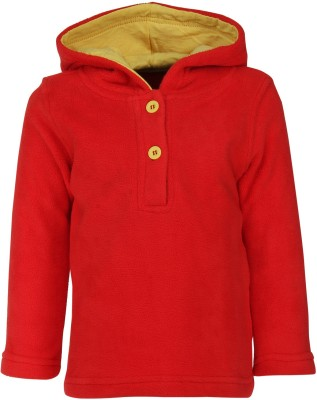 Nino Bambino Full Sleeve Solid Baby Boy's Sweatshirt