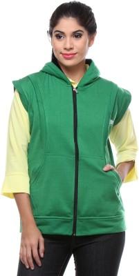 TeeMoods Sleeveless Solid Women's Reversible Sweatshirt