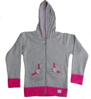 Sweet Angel Full Sleeve Self Design Girl's Sweatshirt