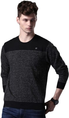 WROGN Full Sleeve Self Design Mens Sweatshirt
