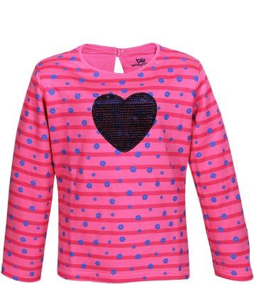 Bells and Whistles Full Sleeve Printed Baby Girl's Sweatshirt