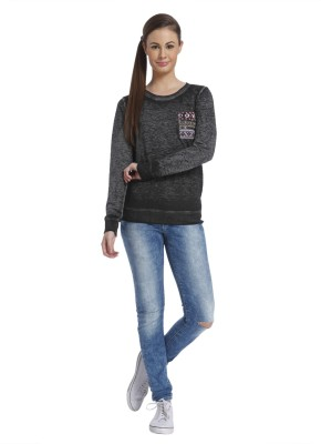 Only Full Sleeve Solid Women's Sweatshirt