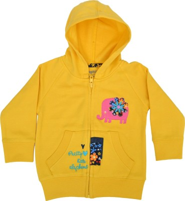 Pepito Full Sleeve Embellished Baby Girl's Sweatshirt