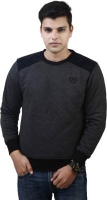 Absurd Full Sleeve Solid Men's Reversible Sweatshirt
