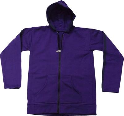 Mankoose Full Sleeve Solid Girl's Sweatshirt